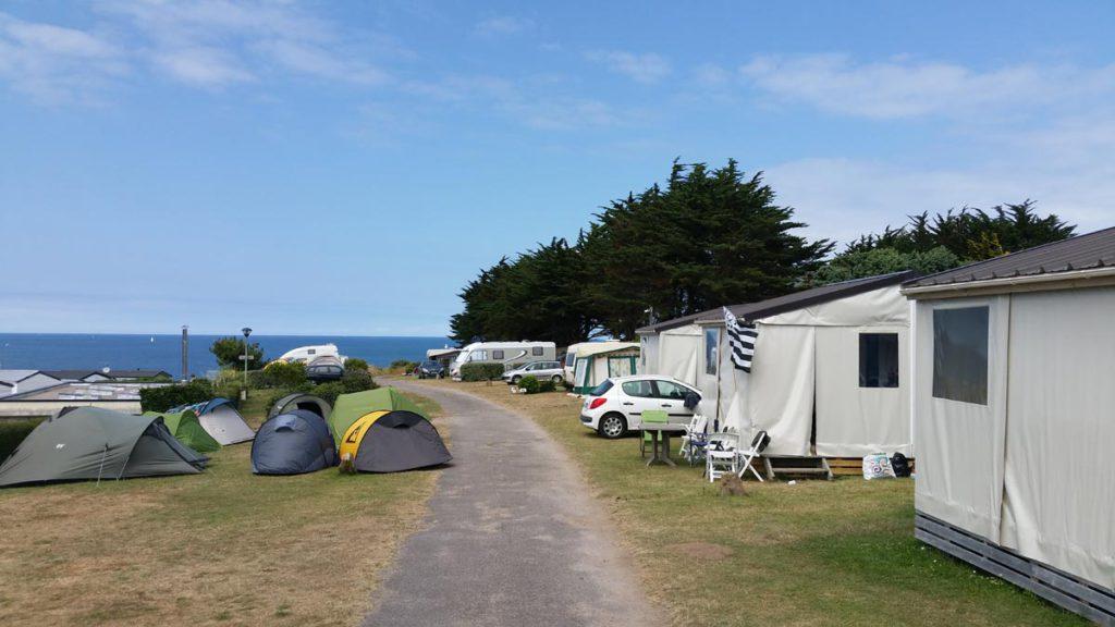 la vue sur mer du camping la crique
