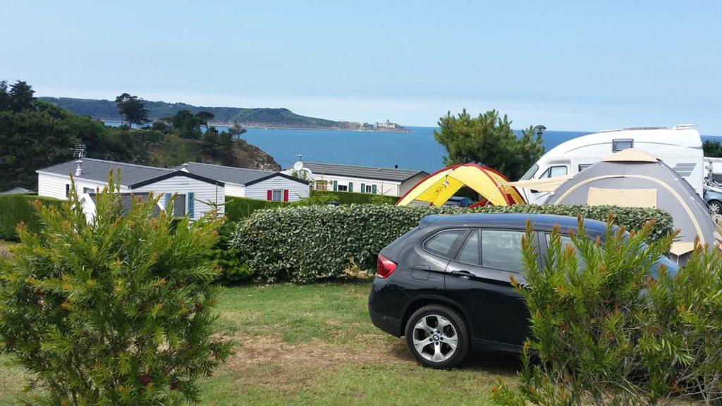 la vue mer du camping