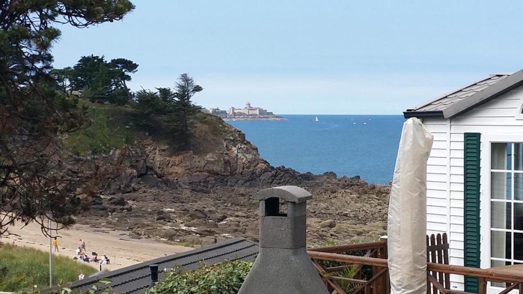 la vue sur mer du camping