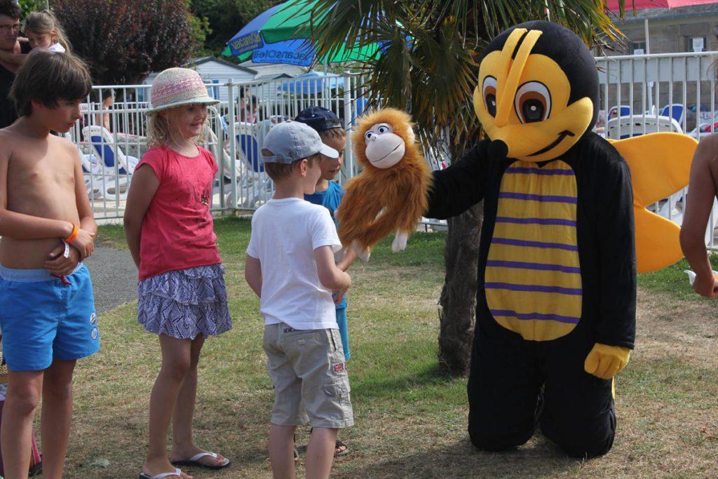 club enfant et mascotte du camping