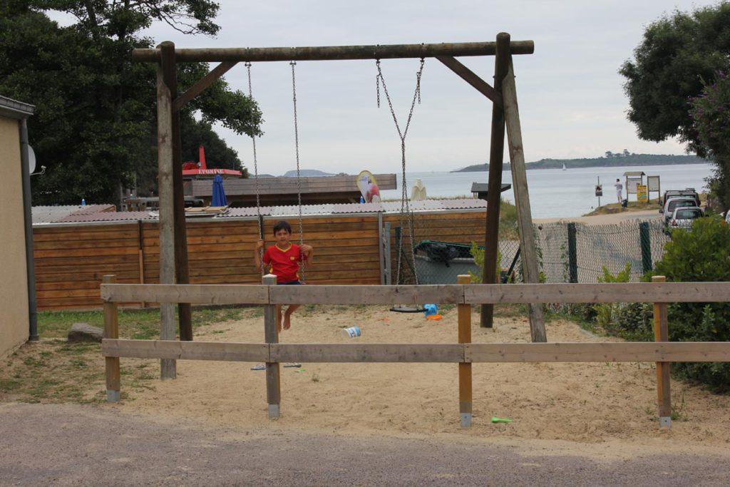 Aire de jeux enfants du camping