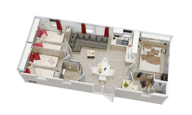mobilhome IRM 3 chambres neuf