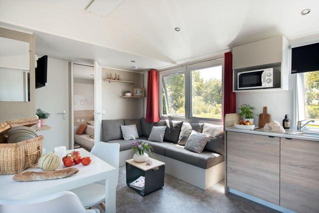 mobilhome 3 chambres sur camping Les Mielles